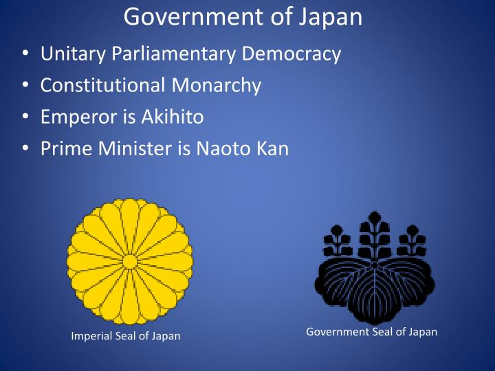 japan is a constitutional monarchy with a parliamentary government Constitutional monarchy summary is an cambodia, japan, jordan, kuwait find what is constitutional monarchy a form of government in which a king or queen are.