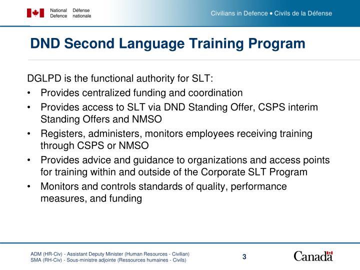 Dnd second language training program