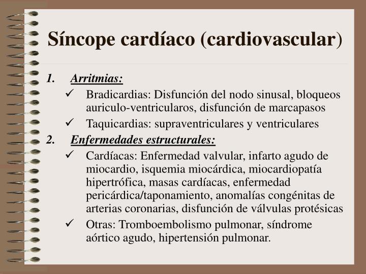 Síncope cardíaco (cardiovascular