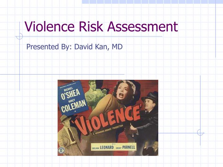 violence risk assessment n.