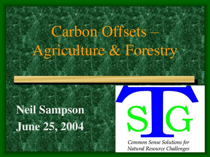 carbon offsets agriculture forestry n.