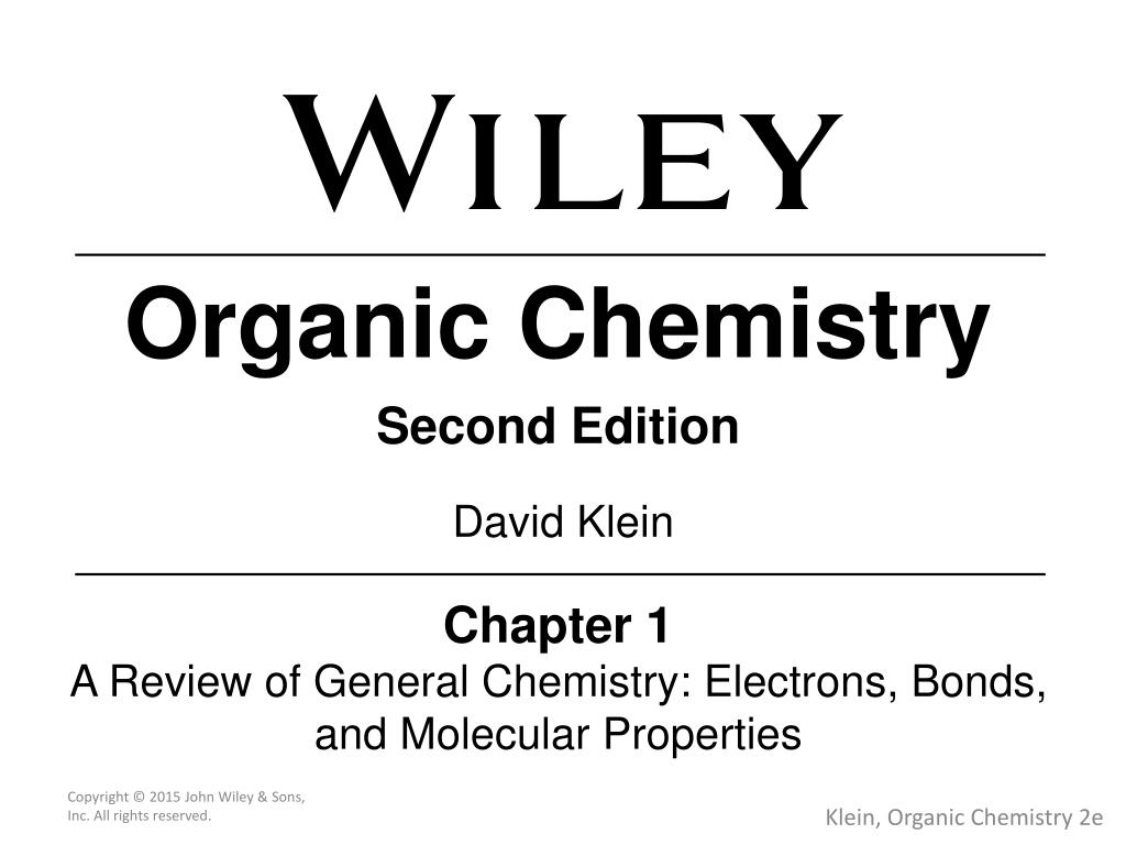 PPT - Organic Chemistry Second Edition PowerPoint