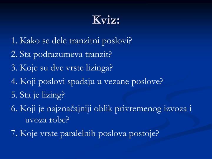 Kviz: