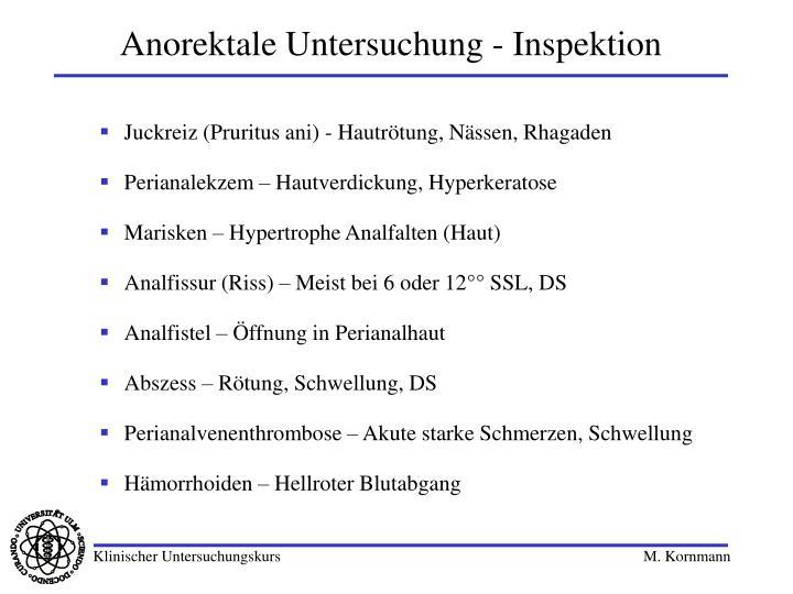 Anorektale Untersuchung - Inspektion