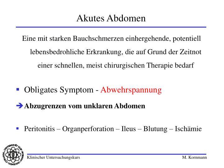 Akutes Abdomen