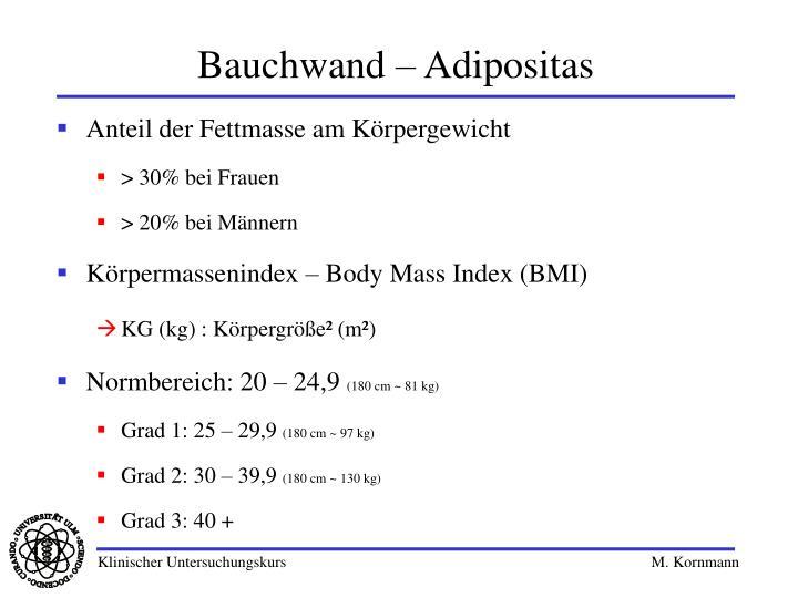 Bauchwand – Adipositas