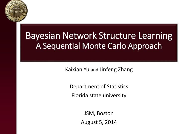 bayesian network structure learning a sequential monte carlo approach n.