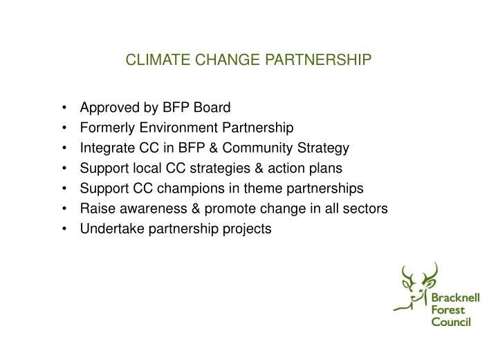 CLIMATE CHANGE PARTNERSHIP
