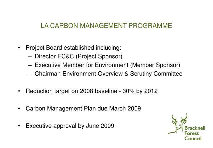 LA CARBON MANAGEMENT PROGRAMME