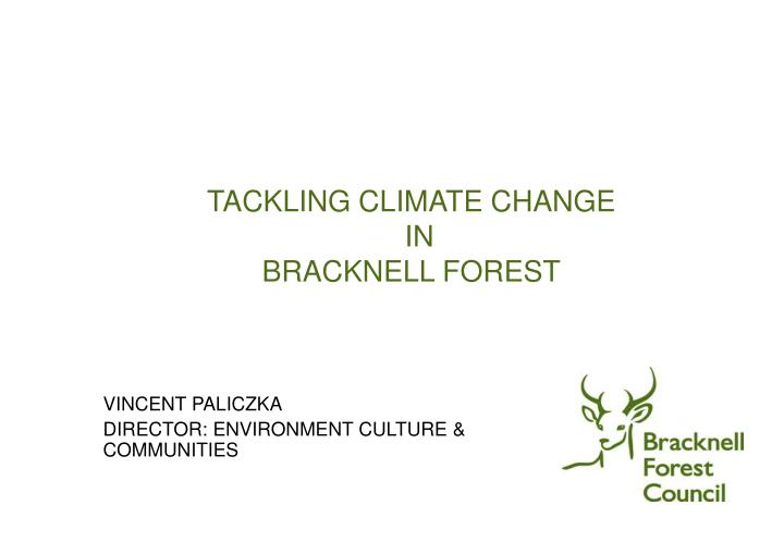 Tackling climate change in bracknell forest