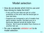model selection1