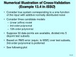 numerical illustration of cross validation example 13 4 in isso