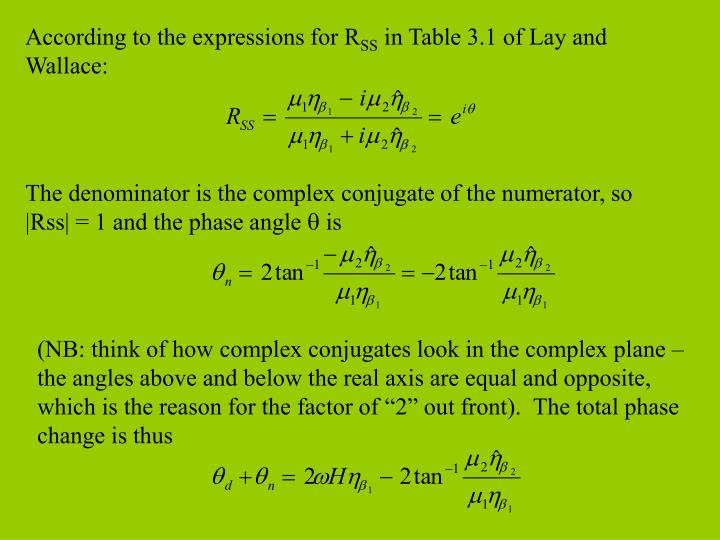 According to the expressions for R