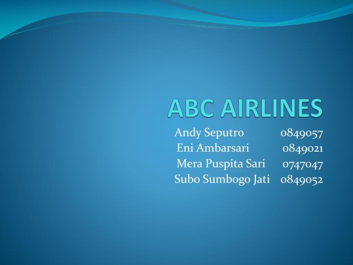 Abc airlines