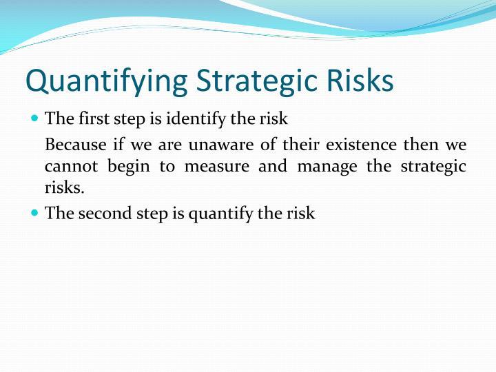 Quantifying Strategic Risks