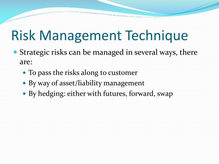 Risk Management Technique
