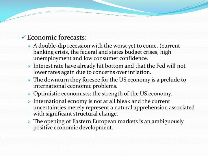 Economic forecasts: