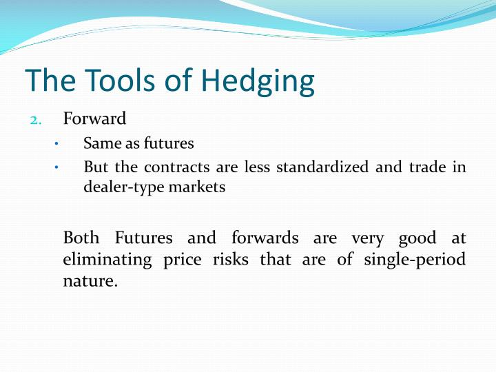 The Tools of Hedging