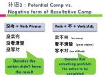 3 potential comp vs negative form of r esultative comp