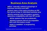 business area analysis