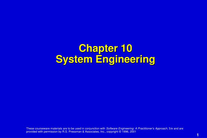 chapter 10 system engineering