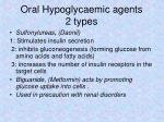 oral hypoglycaemic agents 2 types