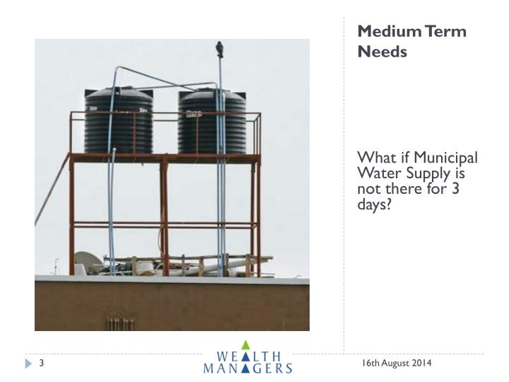 Medium term needs