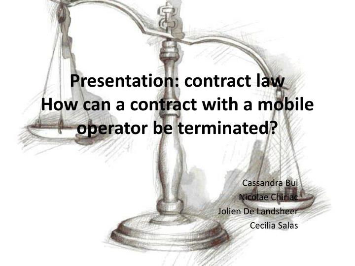 presentation contract law how can a contract with a mobile operator be terminated n.