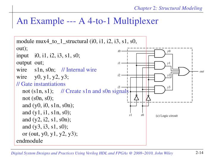 An Example --- A 4-to-1 Multiplexer