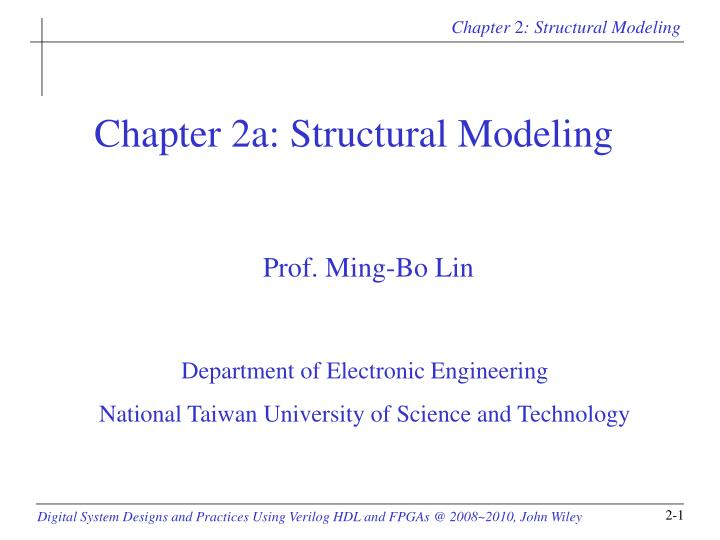Chapter 2a structural modeling