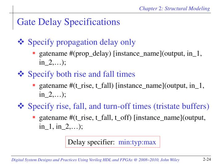 Gate Delay Specifications