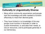 culturally linguistically diverse