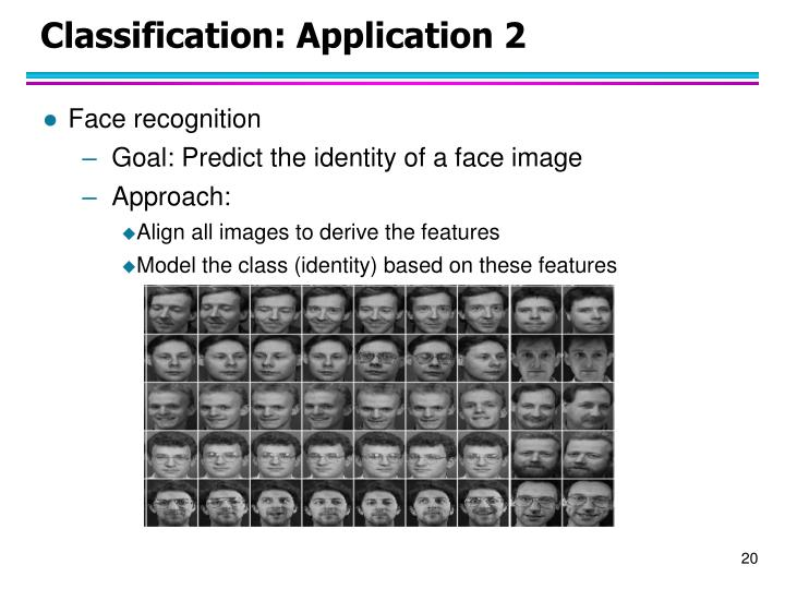 Classification: Application 2