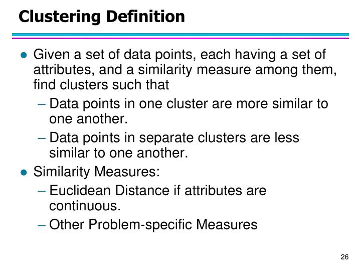 Clustering Definition