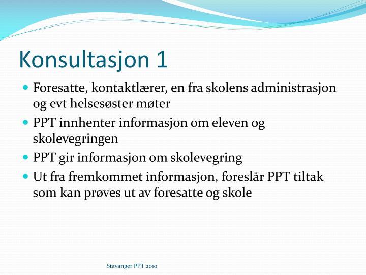 Konsultasjon 1
