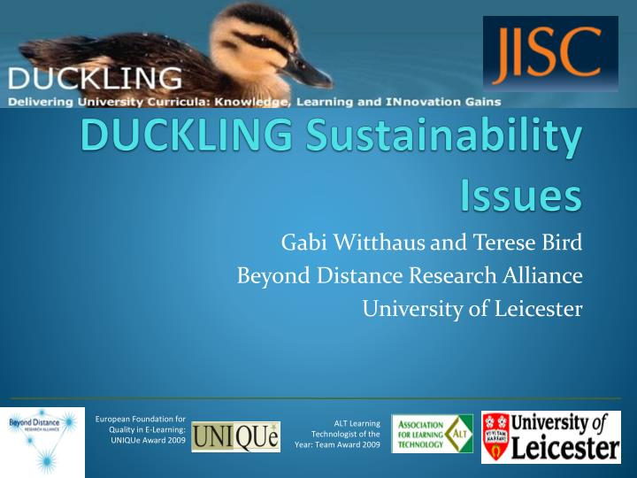 duckling sustainability issues