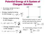 potential energy of a system of charges solution