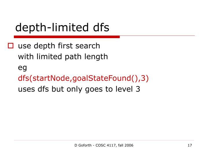 depth-limited dfs