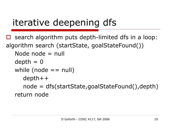 iterative deepening dfs