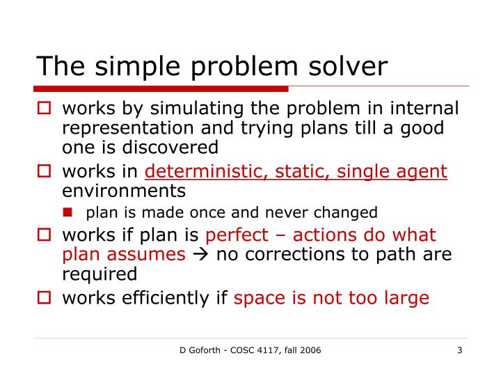 The simple problem solver1