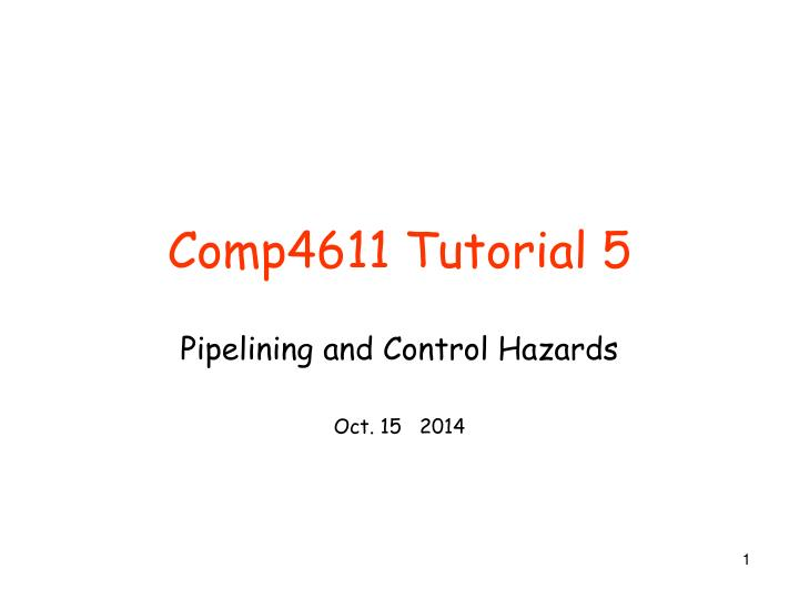 comp4611 tutorial 5