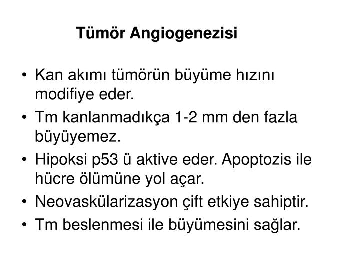 Tümör Angiogenezisi