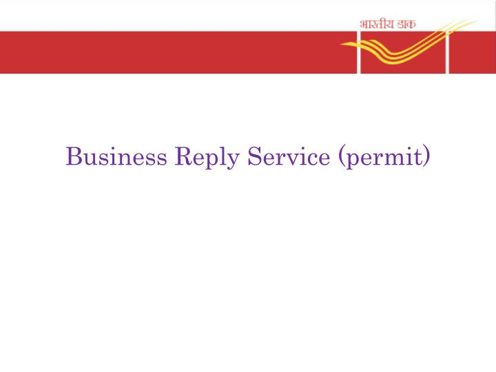 business reply service permit n.