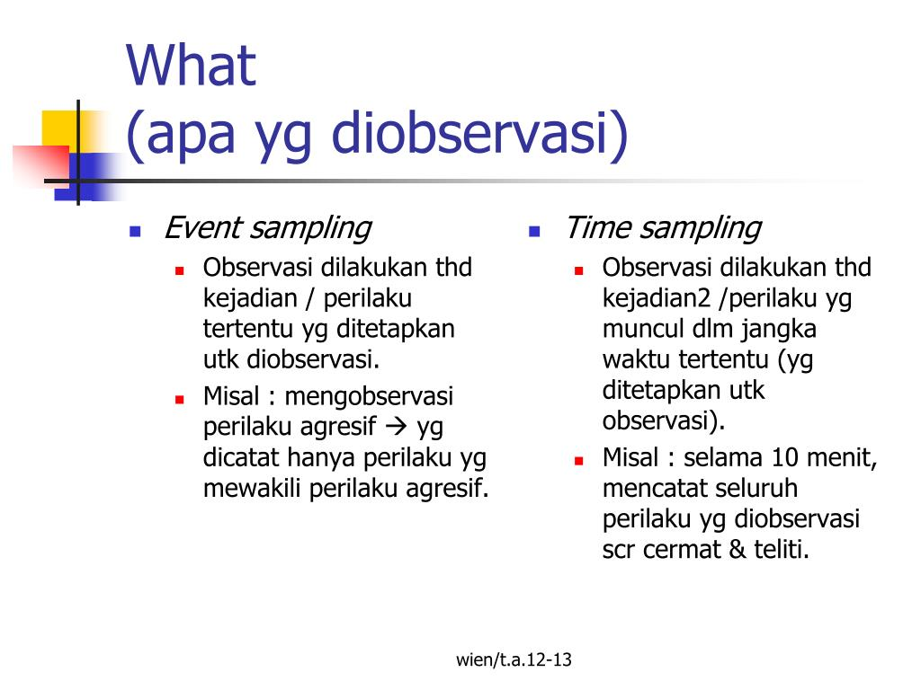 Contoh Laporan Observasi Event Sampling Seputar Laporan