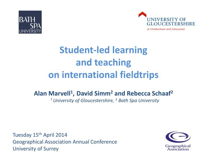 student led learning and teaching on international fieldtrips n.