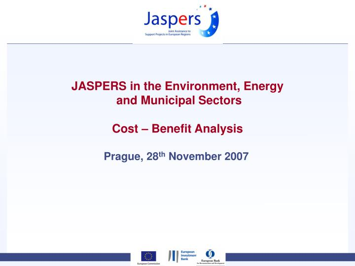 JASPERS in the Environment, Energy