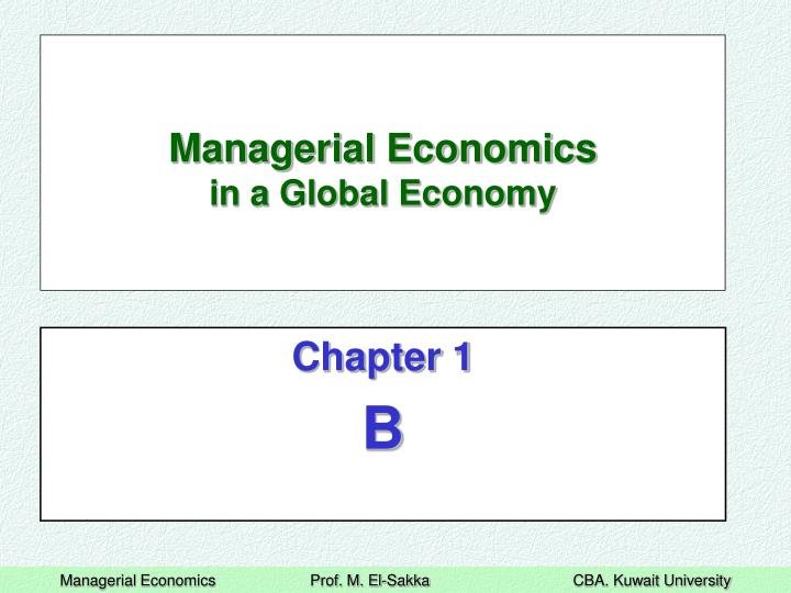 PPT Managerial Economics In A Global Economy PowerPoint