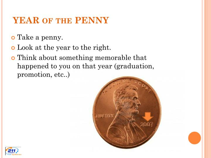Year of the penny