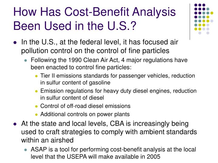 How Has Cost-Benefit Analysis Been Used in the U.S.?