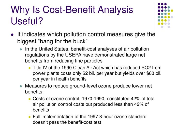 Why Is Cost-Benefit Analysis Useful?